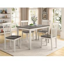 Brody 5-PC Dinette in White/Grey     (2182set-wh,75162)
