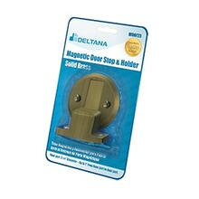 "Magnetic Door Holder Flush 2-1/2"" Diameter Blister Pack - Antique Brass"