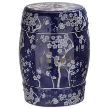 See Details - Midnight Kiss Garden Stool - Dark Blue