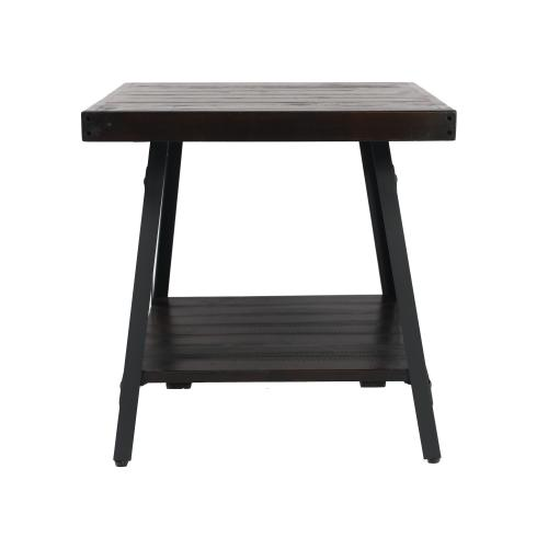 Chandler End Table Espresso Brown