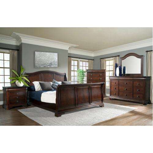 Cameron Cherry King Sleigh Bed