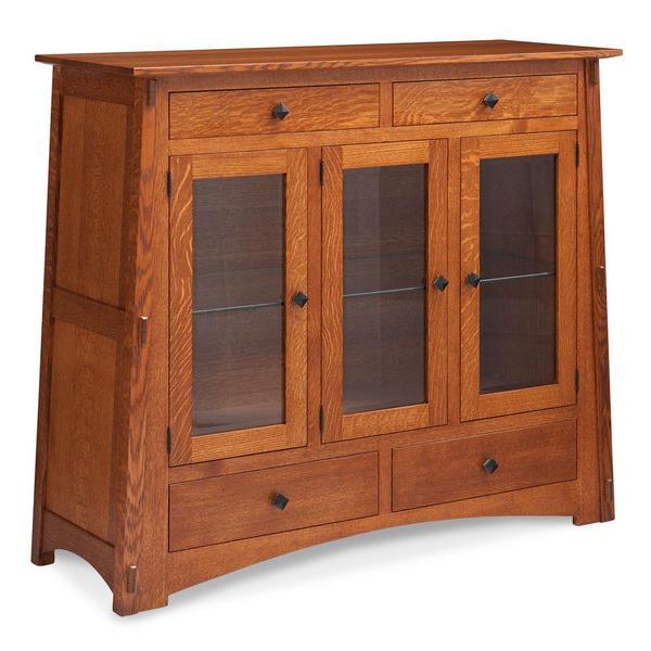 See Details - McCoy Dining Cabinet, 2-Door / Glass Doors