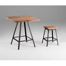 Redmond Stool Raw Iron and Natural Wood