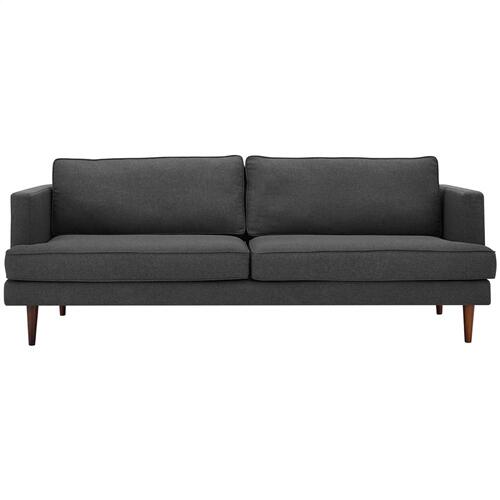 Agile Upholstered Fabric Sofa in Gray