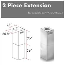 "ZLINE 2-36"" Chimney Extensions for 10 ft. to 12 ft. Ceilings (2PCEXT-697i/KECOMi-304)"