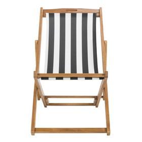 Loren Foldable Sling Chair - Natural / Black / White