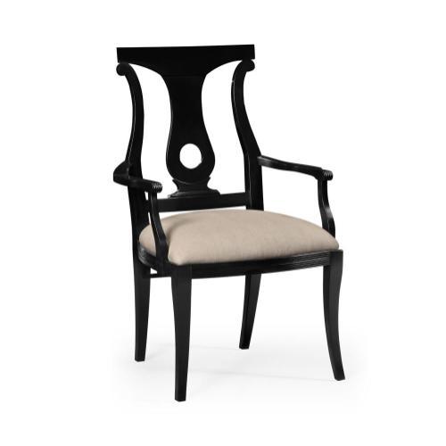 Black Lock Dining Armchair