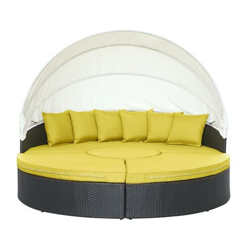 Quest Canopy Outdoor Patio Daybed in Espresso Peridot