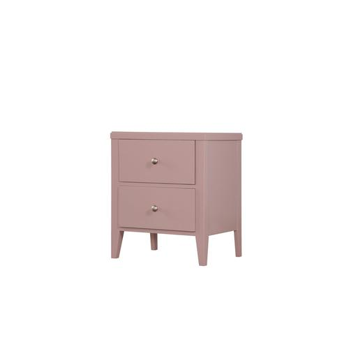 2 Drawer Nightstand-pink