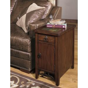 Null Furniture Inc - Chairside Cabinet in Chestnut finish & Slate Tile Top      (5013-22,52984)