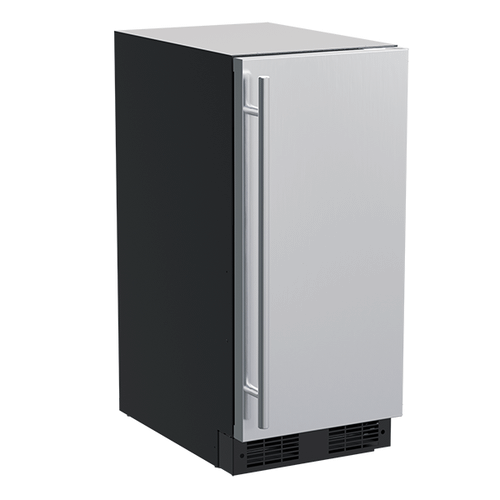 15-In Built-In Nugget Ice Machine with Door Style - Stainless Steel, Pump - No