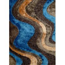 Designer Shag S.V.D. 29 Area Rug by Rug Factory Plus - 5' x 7' / Blue