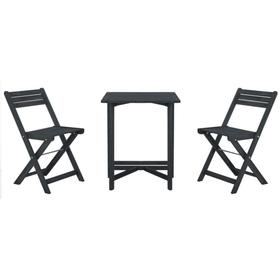 Gallo Balcony Bistro Set - Dark Slate Grey