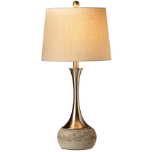 Long Neck Brushed Silver Table Lamp. 60W Max.