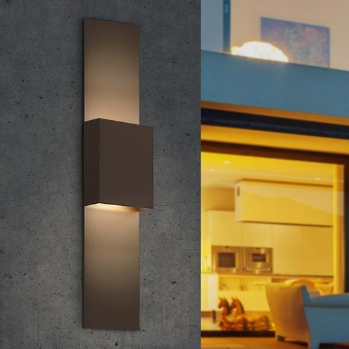 Sonneman - A Way of Light - Flat Box Up/Down LED Sconce [Color/Finish=Textured Gray]