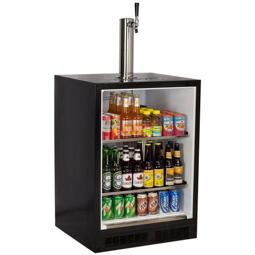 Marvel - 24-In Beverage Dispenser with Door Style - Stainless Steel, Door Swing - Right