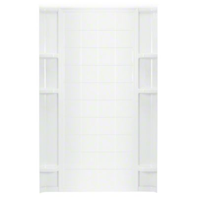 """Ensemble™ 48"""" x 72-1/2"""" Tile Alcove Shower with Age in Place Backers - Back Wall - White"""