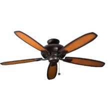 52' 5-Blade Upgrade Ceiling Fan RB - Charred Pecan/Walnut Blades