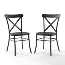CAMILLE 2PC METAL CHAIR SET