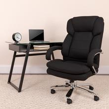 View Product - HERCULES Series 24\/7 Intensive Use Big & Tall 500 lb. Rated Black Fabric Executive Ergonomic Office Chair with Loop Arms