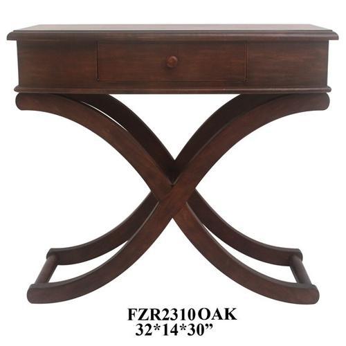 "32X14X30"", DARK OAK WOOD TABLE, 1 PACK, 3.75'"