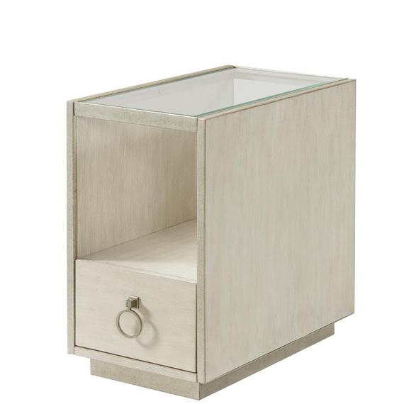 Riverside - Maisie - Chairside Table - Champagne Finish