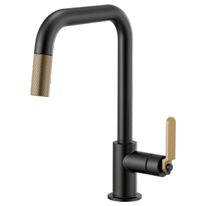 Pull-down Faucet With Square Spout and Industrial Handle Product Image
