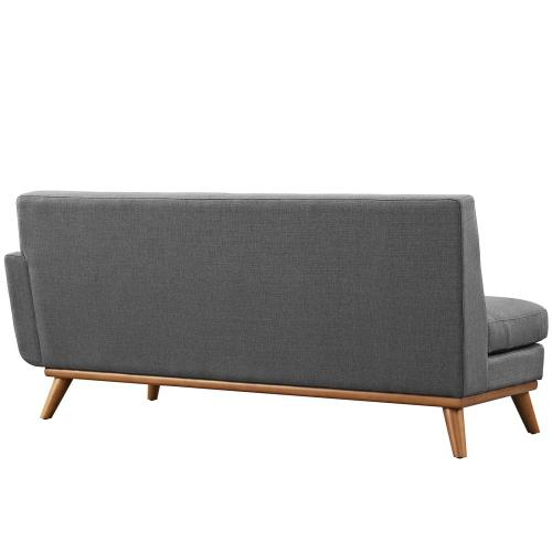 Engage Right-Arm Upholstered Fabric Loveseat in Gray
