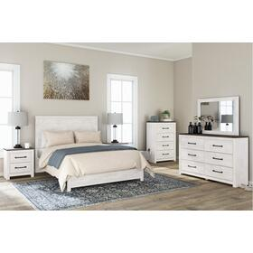 Gerridan 5 Pc. Queen Panel Bedroom Set White/Gray