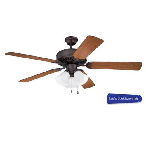 """C205ABZ - 52"""" Ceiling Fan with Light (Blades Sold Separately)"""