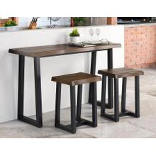 Jennings 3-Piece Counter Dining Set (Bar & 2 Counter Stools)