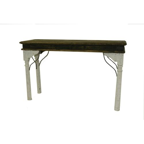L.M.T. Rustic and Western Imports - White Indian Console