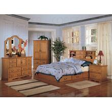 "BOOKCASE BED,LIGHT OAK 92-1/4""x64-1/4""x52-1/4""H"