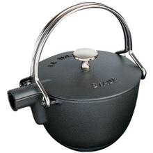 Staub Cast Iron 1-qt Round Tea Kettle, Black Matte