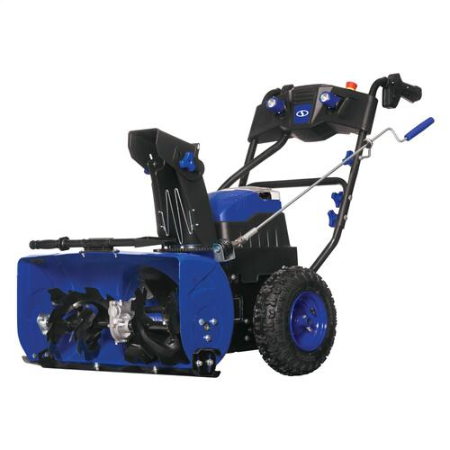 Snow Joe - Snow Joe iON24SB-XRP 80-Volt iONMAX Cordless Brushless Two Stage Snow Blower Kit  24-Inch  3-Speed  W/ 2 x 6.0-Ah Batteries and Charger