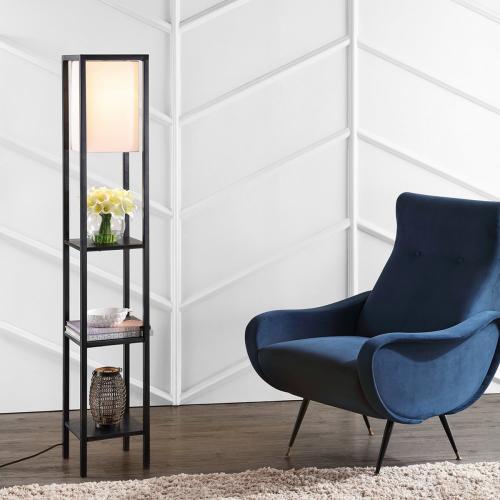Rista Shelf Floor Lamp - Black
