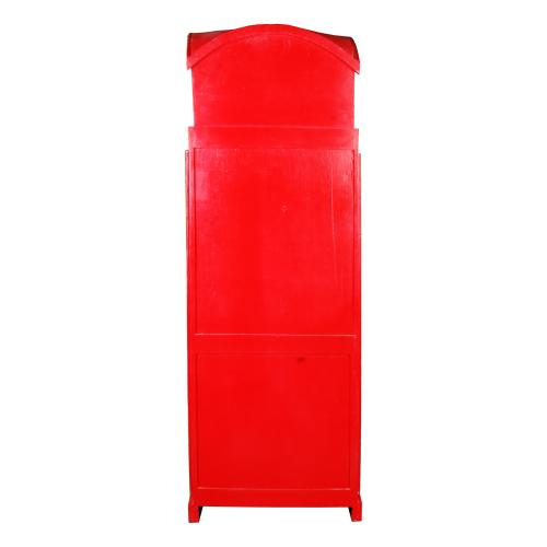 English Phone Booth Cabinet - Red