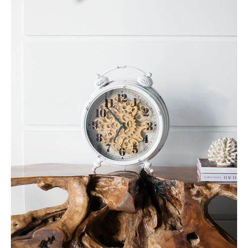 A & B Home - Classic Gears Table Clock