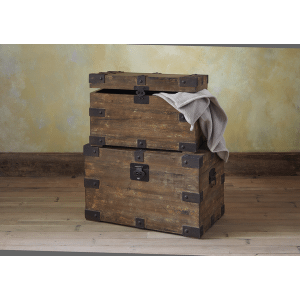 Distressed Brown Rectangle Trunk (2 pc. set)