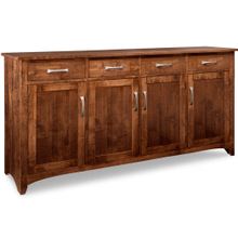 Glengarry Sideboard w/4 Wood Doors & 4/Drws & 3/Wood Adjust.