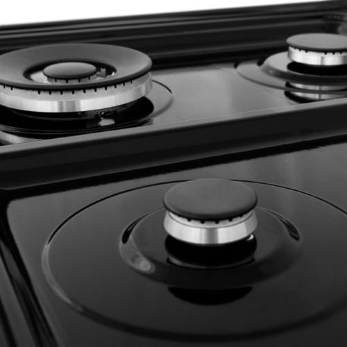 """ZLINE 24"""" Professional Dual Fuel Range in Black Stainless Steel With Burner Options (RAB-24) [Style: Black Stainless Steel]"""