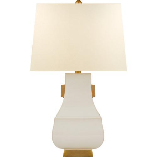 Visual Comfort CHA8694IVO/BG-PL E. F. Chapman Kang Jug 29 inch 100 watt Ivory with Burnt Gold Table Lamp Portable Light, Large