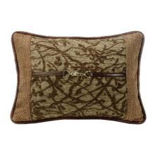 Highland Lodge Tree Lumbar Pillow W/ Buckle Detail