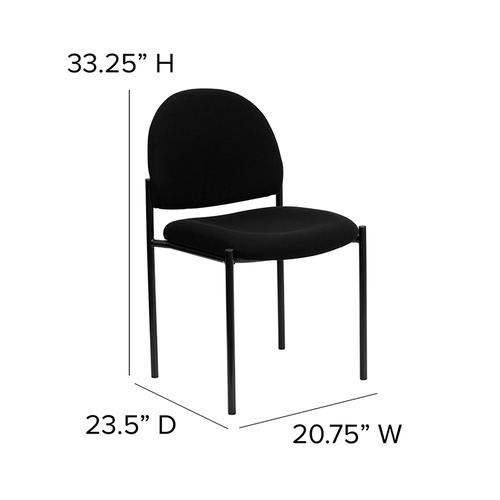 Gallery - Comfort Black Fabric Stackable Steel Side Reception Chair