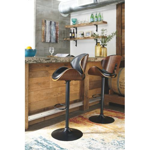 Upholstered Adjustable Barstool