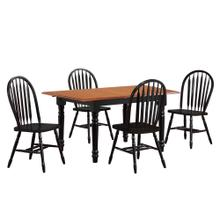 See Details - Butterfly Leaf Dining Set w/Arrowback Chairs (5 Piece)