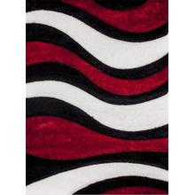 """Sorrento 725 Shag Area Rug by Rug Factory Plus - 7'6"""" x 10'3"""" / Red"""