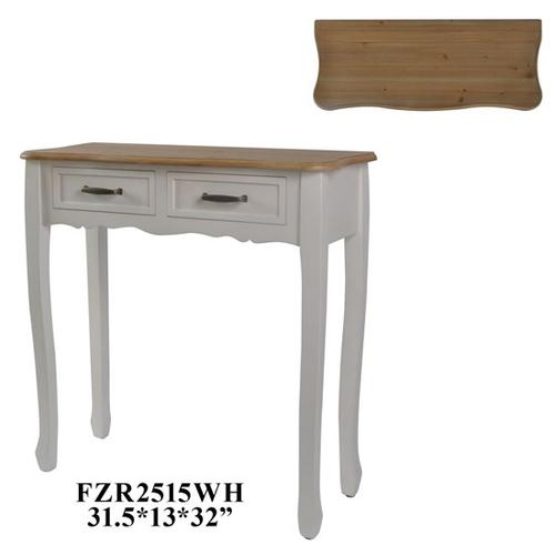 Product Image - 31.5X13X32 CONSOLE TABLE. MDF+VENNER, CREAM,1PC/3.71'