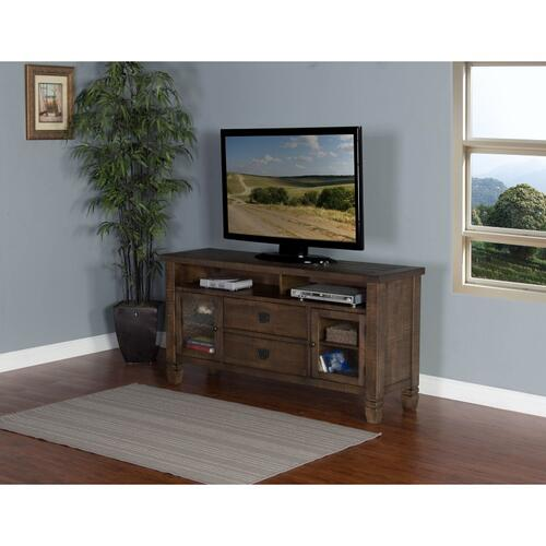 "Sunny Designs - Tobacco Leaf 62"" TV Console"