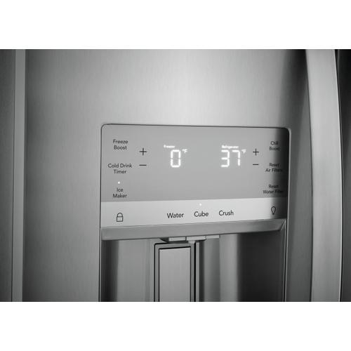 Frigidaire - Frigidaire Gallery 22.3 Cu. Ft. 36'' Counter Depth Side by Side Refrigerator